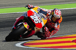 September 23, 2017 - Alcaiz, Spain - Spanish rider Daniel Pedrosa of Repsol Honda Team, in action during the Gran Premio Movistar de Aragon Qualifying on September 23, 2017 in Alcaiz, Spain. (Credit Image: © Joan Cros/NurPhoto via ZUMA Press)