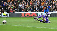 Joe Hart of Manchester City in action during the Barclays Premier League match at the KC Stadium, Kingston upon Hull<br /> Picture by Richard Gould/Focus Images Ltd +44 7855 403186<br /> 15/03/2014