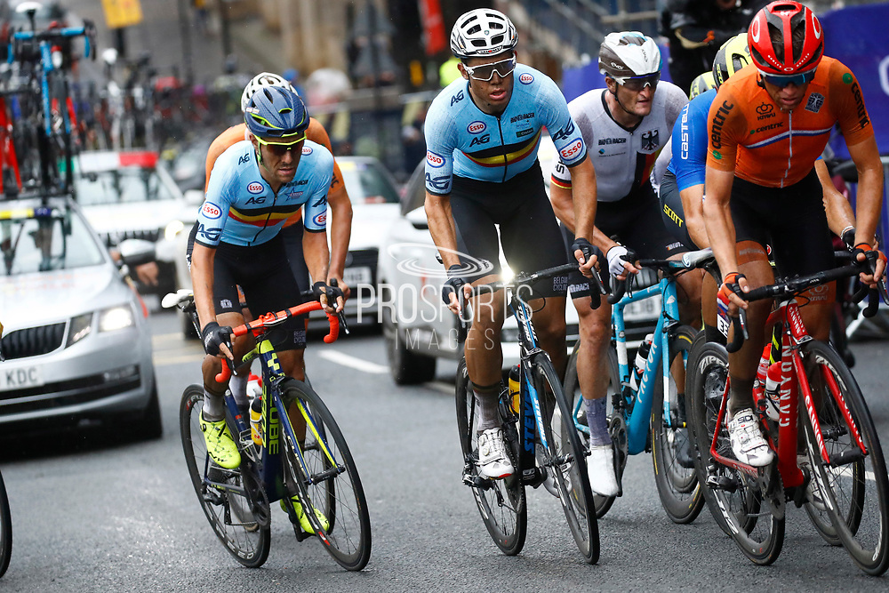 Men Road Race 230,4 km, Wout Van Aert (Belgium), during the Cycling European Championships Glasgow 2018, in Glasgow City Centre and metropolitan areas, Great Britain, Day 11, on August 12, 2018 - Photo Luca Bettini / BettiniPhoto / ProSportsImages / DPPI - Belgium out, Spain out, Italy out, Netherlands out -