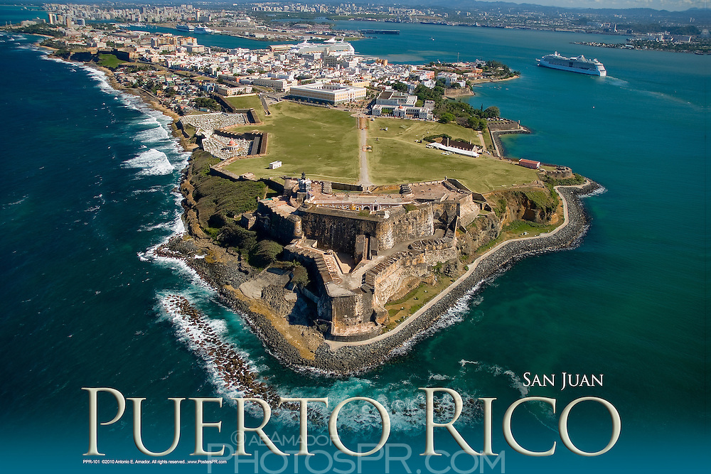 Aerial view of Castillo San Felipe del Morro