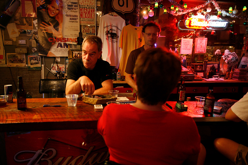 German tourists visiting the Shack-Up Inn outside of Clarksdale, Miss., 2007.