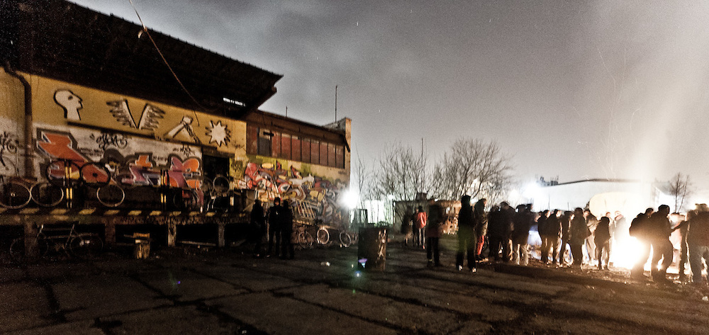 16th March 2012, Warsaw, Poland. Clashes with the Police durning eviction of the biggest squat in the City - Elba. Photo: Krystian Maj