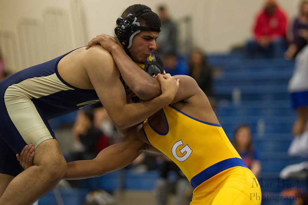 Valley Forge Military College wrestles Gloucester County College as Gloucester County College Wrestling hosts the Chuck Williamson Quad Match in Sewell, NJ on Saturday December 1, 2012. (photo / Mat Boyle)
