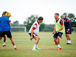 Joe Morrell and Ashley Harper in action as Bristol City Under 23s return for a second day of training ahead of their 2017/18 Season - Rogan/JMP - 01/07/2017 - Failand Training Ground - Bristol, England.