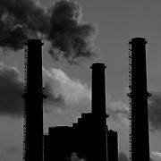 Smoke of factories in New York