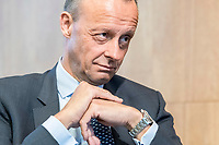 18 JUN 2018, BERLIN/GERMANY:<br /> Friedrich Merz, Vorsitzender des Aufsichtsrates BlackRock Asset Management Deutschland AG, Veranstaltung Wirtschaftsforum der SPD: &quot;Finanzplatz Deutschland 2030 - Vision, Strategie, Massnahmen!&quot;, Haus der Commerzbank<br /> IMAGE: 20180618-01-124