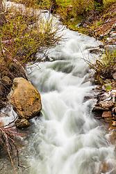 """Alder Creek 1"" - photograph of rapids on Alder Creek, shot from the ""new"" bridge crossing."