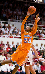 December 19, 2009; Stanford, CA, USA;  Tennessee Lady Volunteers forward Glory Johnson (25) shoots against the Stanford Cardinal during the second half at Maples Pavilion.  Stanford defeated Tennessee 67-52.