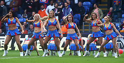 May 13, 2018 - London, England, United Kingdom - Cheerleaders of Crystal Palace.during the Premiership League match between Crystal Palace and West Bromwich Albion (WBA) at Selhurst Park, London, England on 13 May  2018. (Credit Image: © Kieran Galvin/NurPhoto via ZUMA Press)