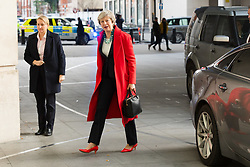 © Licensed to London News Pictures. 06/01/2019. London, UK. Prime Minister, Theresa May arrives at BBC Broadcasting House in London to appear on the Andrew Marr Show.  Photo credit: Vickie Flores/LNP