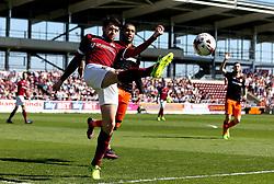 Brendan Moloney of Northampton Town clears the ball - Mandatory by-line: Robbie Stephenson/JMP - 08/04/2017 - FOOTBALL - Sixfields Stadium - Northampton, England - Northampton Town v Sheffield United - Sky Bet League One