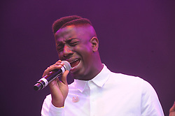 © Licensed to London News Pictures. 16/07/2015<br /> Rochester Castle Concerts,Rochester,Kent<br /> Jermain Jackman singing.<br /> (Byline:Grant Falvey/LNP)