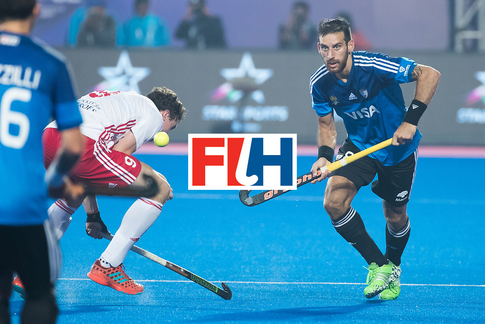 Odisha Men's Hockey World League Final Bhubaneswar 2017<br /> Match id:14<br /> England v Argentina , Quater Final<br /> Foto:  Nahuel Salis (Arg) <br /> WSP COPYRIGHT KOEN SUYK