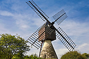 Windmill, moulin a vent, at La Herpiniere near Saumur, Loire Valley, France