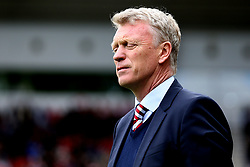 Sunderland manager David Moyes looks frustrated - Mandatory by-line: Robbie Stephenson/JMP - 13/05/2017 - FOOTBALL - Stadium of Light - Sunderland, England - Sunderland v Swansea City - Premier League