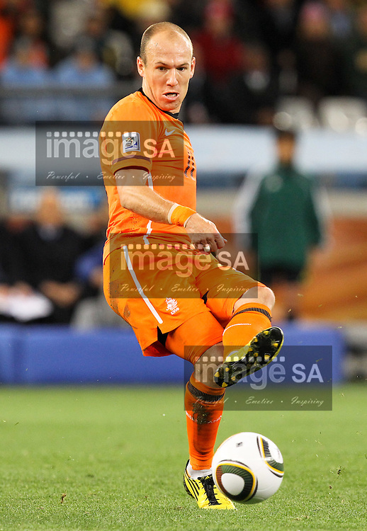 CAPE TOWN, SOUTH AFRICA- Tuesday 6 July 2010, Arjen Robben during the semi final match between Uruguay and the Netherlands (Holland) held at the Cape Town Stadium in Green Point during the 2010 FIFA World Cup..Photo by Roger Sedres/Image SA