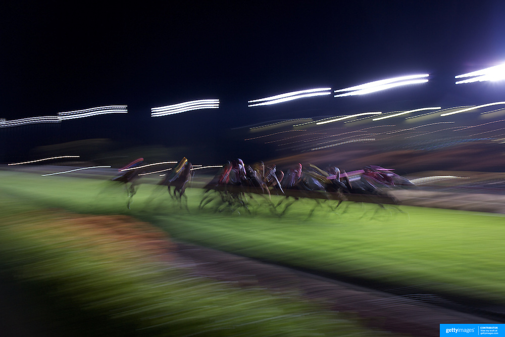 Night horse racing at Canterbury race course, Sydney, Australia,  02 December 2009. Photo Tim Clayton.