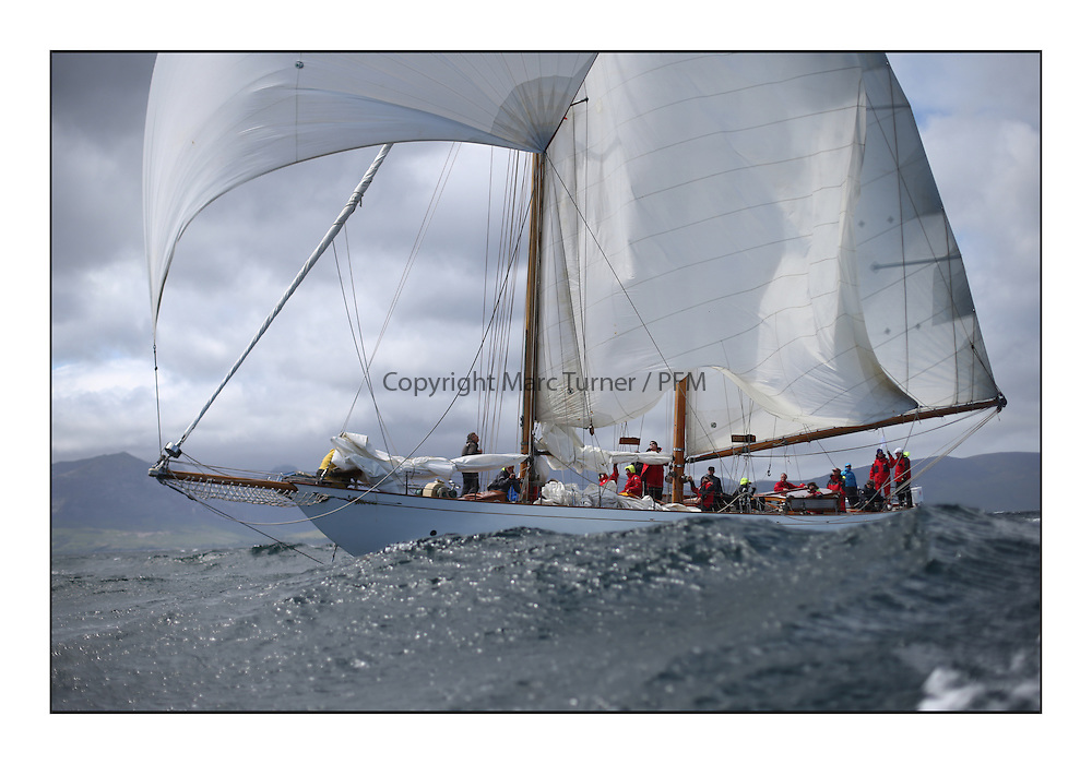 Day five of the Fife Regatta, Race from Portavadie on Loch Fyne to Largs. <br /> <br /> <br /> Astor, Richard Straman, USA, Schooner, Wm Fife 3rd, 1923<br /> <br /> * The William Fife designed Yachts return to the birthplace of these historic yachts, the Scotland&rsquo;s pre-eminent yacht designer and builder for the 4th Fife Regatta on the Clyde 28th June&ndash;5th July 2013<br /> <br /> More information is available on the website: www.fiferegatta.com