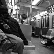 People in the train to brooklyn