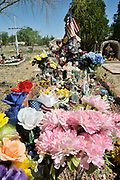 The Tubac Cemetery, Santa Cruz County, Tubac, Arizona, USA.