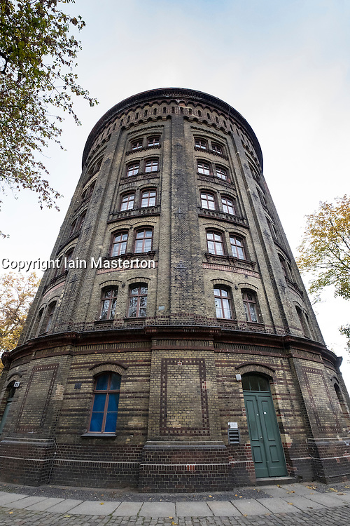 View of Wasserturm or water tower during Autumn  in Prenzlauer Berg , Berlin, Germany
