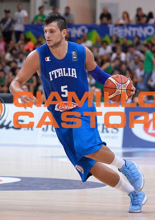 DESCRIZIONE : Trento Nazionale Italia Uomini Trentino Basket Cup Italia Germania Italy Germany <br /> GIOCATORE : Alessandro Gentile<br /> CATEGORIA : palleggio<br /> SQUADRA : Italia Italy<br /> EVENTO : Trentino Basket Cup<br /> GARA : Italia Germania Italy Germany<br /> DATA : 01/08/2015<br /> SPORT : Pallacanestro<br /> AUTORE : Agenzia Ciamillo-Castoria/R.Morgano<br /> Galleria : FIP Nazionali 2015<br /> Fotonotizia : Trento Nazionale Italia Uomini Trentino Basket Cup Italia Germania Italy Germany