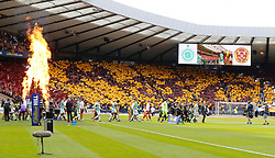 Celtic and Motherwell players before the William Hill Scottish Cup Final at Hampden Park, Glasgow. PRESS ASSOCIATION Photo. Picture date: Saturday May 19, 2018. See PA story SOCCER Scottish Cup. Photo credit should read: Jeff Holmes/PA Wire. RESTRICTIONS: EDITORIAL USE ONLY