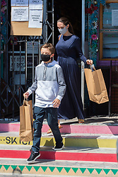 EXCLUSIVE: Angelina Jolie and her son Knox go to Wacko and Blue Rooster art supplies. 11 Jul 2020 Pictured: Angelina and her son Knox got to Wacko and Blue Rooster art supplies. Photo credit: Mr. E /P &P/ MEGA TheMegaAgency.com +1 888 505 6342