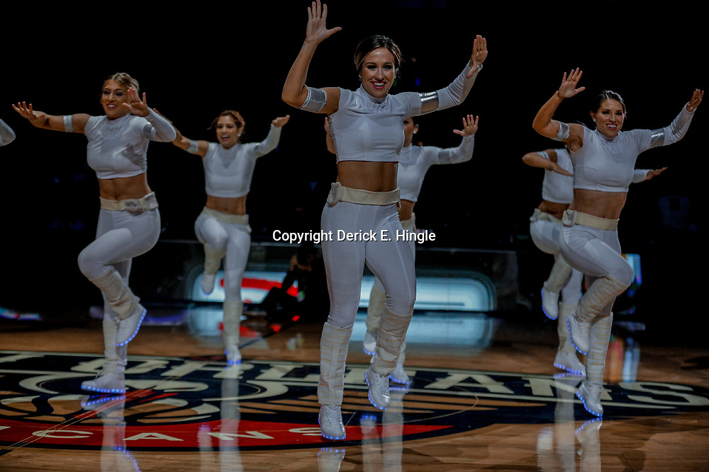 Dec 10, 2017; New Orleans, LA, USA; New Orleans Pelicans dance team perform a Star Wars themed dance during the first half against the Philadelphia 76ers at the Smoothie King Center. The Pelicans defeated the 76ers 131-124. Mandatory Credit: Derick E. Hingle-USA TODAY Sports