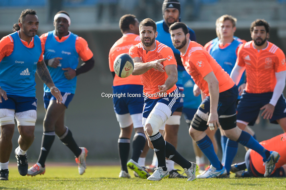 Sebastien Tillous Borde - 11.03.2015 - Rugby -Entrainement France -Marcoussis<br />