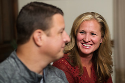 Shawne Wells, right, and Kelly, left, talk with CJ writer Michael Grant about the latest chapter in her husband's life with a rare kidney disorder called Berger's Disease, Wednesday, Sept. 24, 2014 at the Eastern Kentucky Expo Center and The Wells Home in Pikeville. <br /> <br /> Ten years after donating her kidney to her husband it began to reject the organ. <br /> <br /> While searching for a donor her brother was screened as a possible match and a CT Scan revealed he had cancer, which was a shock but had it not been for the screening the detection may have not been made for a long time.<br /> <br /> Kelly Wells suffers from a kidney disorder called Berger's Disease. His newly transplanted functioning kidney was donated by his sister's husband.<br /> <br /> Photo by Jonathan Palmer, Special to the CJ