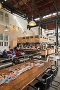 Cafe-Restaurant Amsterdam, Industriedenkmal, Amsterdam West, Amsterdam, Holland, Niederlande  Kein Propertyrelease, no property release