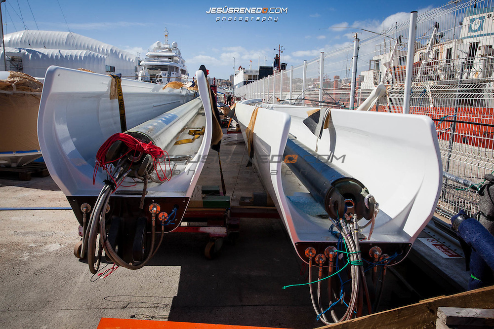 S/Y Mondago after being painted by SNI, March 2014, Palma de Mallorca, Spain,  © Jesús Renedo, S/Y Mondago after being painted by SNI