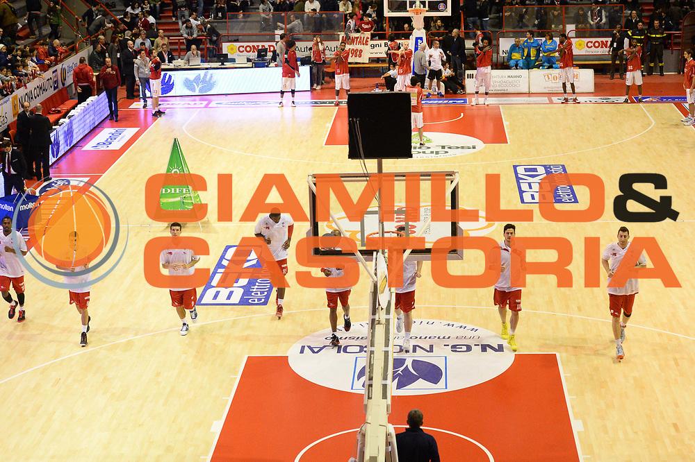 DESCRIZIONE : Pistoia Lega serie A 2013/14  Giorgio Tesi Group Pistoia Pesaro<br /> GIOCATORE : team pesaro<br /> CATEGORIA : riscaldamento<br /> SQUADRA : Pesaro Basket<br /> EVENTO : Campionato Lega Serie A 2013-2014<br /> GARA : Giorgio Tesi Group Pistoia Pesaro Basket<br /> DATA : 24/11/2013<br /> SPORT : Pallacanestro<br /> AUTORE : Agenzia Ciamillo-Castoria/M.Greco<br /> Galleria : Lega Seria A 2013-2014<br /> Fotonotizia : Pistoia  Lega serie A 2013/14 Giorgio  Tesi Group Pistoia Pesaro Basket<br /> Predefinita :