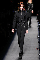 Irina Kravchenko (WOMEN) walks the runway wearing Alexander Wang Fall 2015 during Mercedes-Benz Fashion Week in New York on February 14, 2015