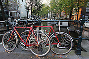Iconic bicycles in Amsterdam - they are everywhere!
