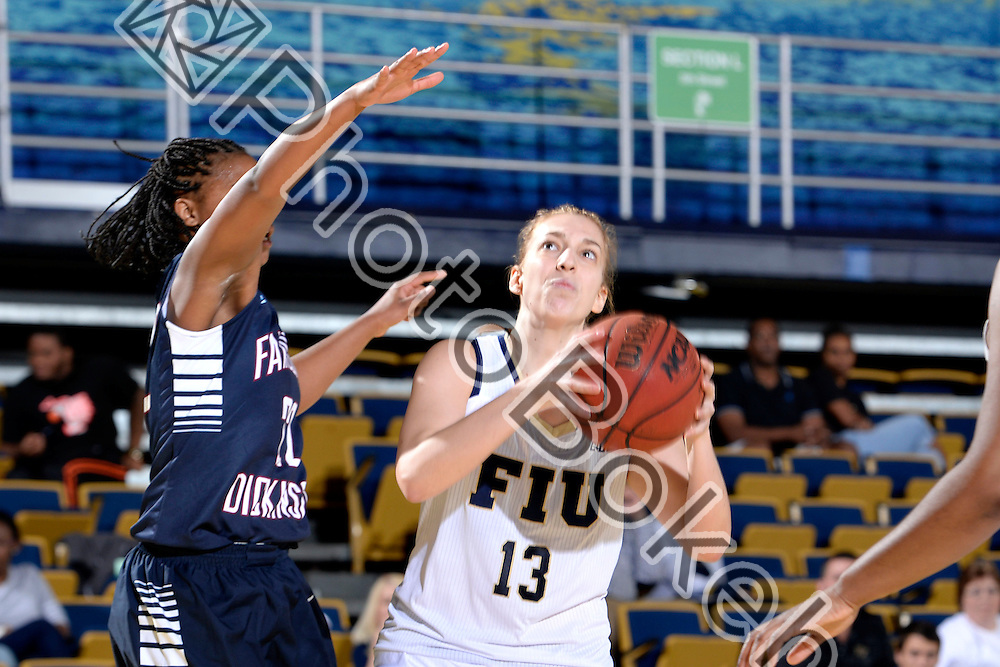 2013 December 28 - FIU's Janka Hegedus (13). Florida International University defeated Fairleigh Dickinson, 79-57, at US Century Bank Arena, Miami, Florida. (Photo by: Alex J. Hernandez / photobokeh.com) This image is copyright by PhotoBokeh.com and may not be reproduced or retransmitted without express written consent of PhotoBokeh.com. ©2013 PhotoBokeh.com - All Rights Reserved
