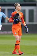 Manchester City Women's goalkeeper Karen Bardsley (1) during the FA Women's Super League match between Manchester City Women and Brighton and Hove Albion Women at the Sport City Academy Stadium, Manchester, United Kingdom on 27 January 2019.