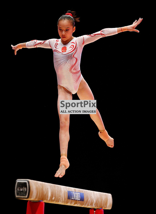2015 Artistic Gymnastics World Championships being held in Glasgow from 23rd October to 1st November 2015...Yilin Fan (Peoples Republic of China) competing in the Balance Beam competition...(c) STEPHEN LAWSON | SportPix.org.uk