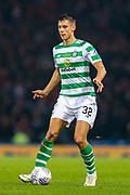 Filip Benkovic (#32) of Celtic on the ball during the Betfred Cup Final between Celtic and Aberdeen at Celtic Park, Glasgow, Scotland on 2 December 2018.