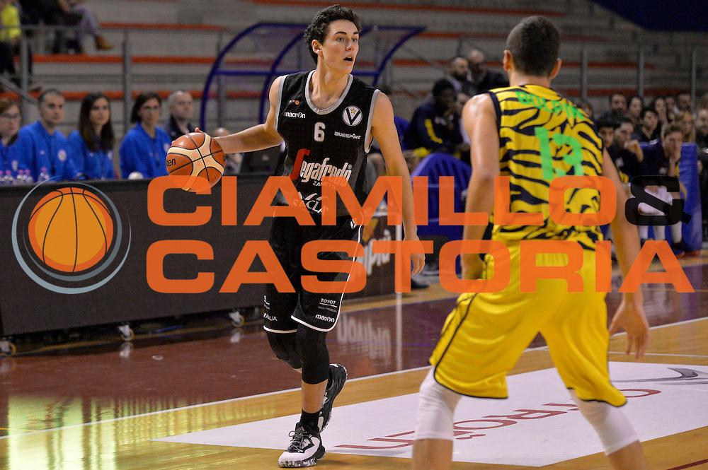 Alessandro Pajola<br /> Ambalt Recanati - Virtus Segafredo Bologna<br /> Campionato Basket A2 LNP 2016/2017<br /> Ancona, 03/12/2016<br /> Foto Ciamillo-Castoria