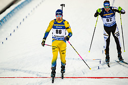 March 9, 2019 - –Stersund, Sweden - 190309 Jesper Nelin of Sweden crosses the finish line in the Men's 10 KM sprint during the IBU World Championships Biathlon on March 9, 2019 in Östersund..Photo: Johan Axelsson / BILDBYRÃ…N / Cop 245 (Credit Image: © Johan Axelsson/Bildbyran via ZUMA Press)