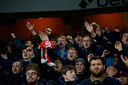 LONDON, ENGLAND - Saturday, November 3, 2018: Liverpool supporters celebrate first goal during the FA Premier League match between Arsenal FC and Liverpool FC at Emirates Stadium. (Pic by David Rawcliffe/Propaganda)