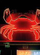 Neon crab at East Coast Seafood center