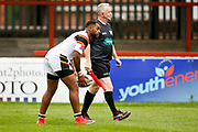 Bradford Bulls winger Iliness Macani (5) scores a try  to make the score 18-20 during the Kingstone Press Championship match between Sheffield Eagles and Bradford Bulls at, The Beaumont Legal Stadium, Wakefield, United Kingdom on 3 September 2017. Photo by Simon Davies.