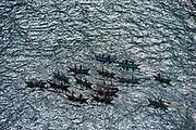 Fishing boats off Swami Rock at Trincomalee.