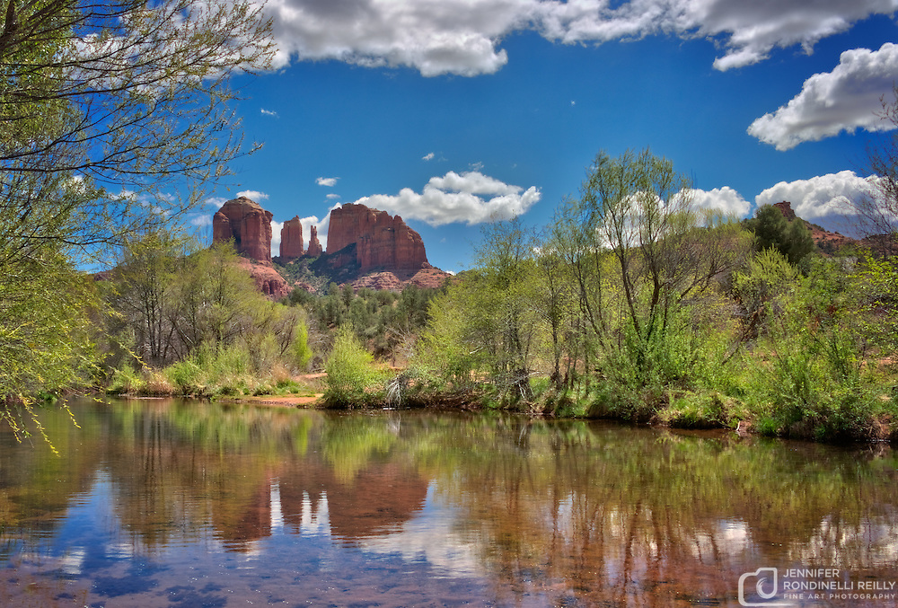 Catherdral Rock at Cresent Moon Ranch in Sedona, AZ.