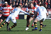 Wasps hooker Tom Cruse bursts forward during the Aviva Premiership match between Gloucester Rugby and Wasps at the Kingsholm Stadium, Gloucester, United Kingdom on 24 February 2018. Picture by Alan Franklin.
