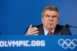 23-02-2014 ALGEMEEN: OLYMPIC GAMES PERSCONFERENTIE BACH: SOTSJI<br /> Persconferentie Thoma Bach, voorzitter van het Internationaal Olympisch Comite.<br /> ©2014-FotoHoogendoorn.nl
