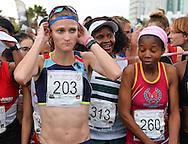 PORT ELIZABETH, SOUTH AFRICA - JULY 30: Irvette van Zyl of AGN during the SA Half Marathon Championships on July 30, 2016 in Port Elizabeth, South Africa. (Photo by Roger Sedres/Gallo Images)